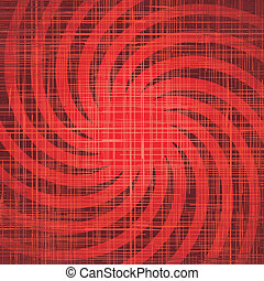 sonne, mit, strahlen, auf, grunge, tuch, texture., vektor