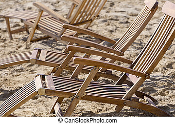 sonne- ruhesessel, sandstrand