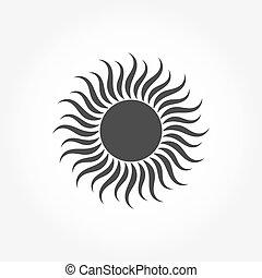 sonne, symbol, ikone