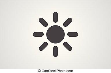 sonne, symbol, vektor, ikone, zeichen