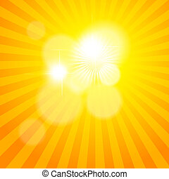 sonne, vektor, pattern., abbildung, sunburst