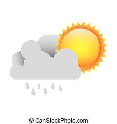 sonne, weiße wolke, regen