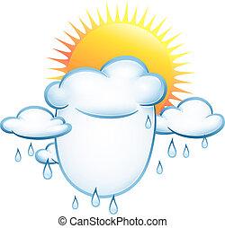 sonne, wolkenhimmel, regen
