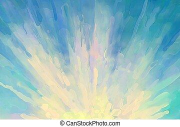 sonnenaufgang, abstrakt, hintergrund