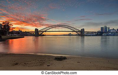 sonnenaufgang, sydney, australia