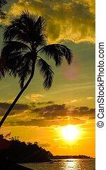 Sonnenaufgang und Sonnenuntergang