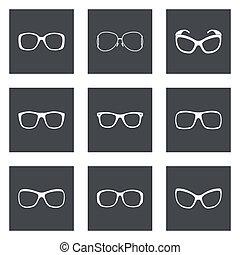 sonnenbrille, brille