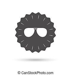 sonnenbrille, glasses., zeichen, icon., flieger, pilot