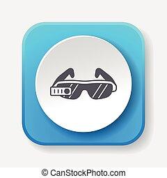 sonnenbrille, ikone