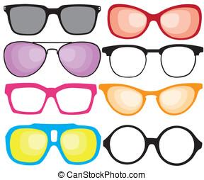 sonnenbrille, retro