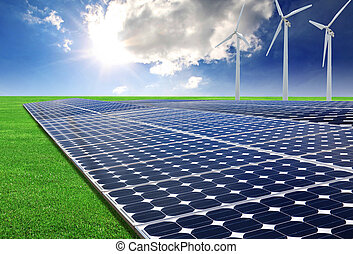 sonnenenergieausschüsse, und, windgeneratoren