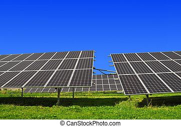 sonnenkollektoren, ausschüsse, energie