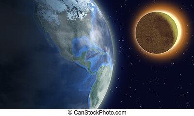 sonnenkollektoren, eclipse.