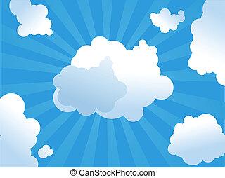 sonnenschein, wolkenhimmel