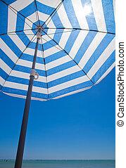 sonnenschirm, hintergrund, stripy