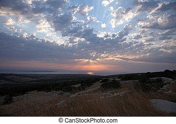 sonnenuntergang, adriatisches meer