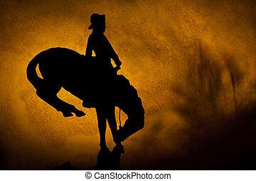 sonnenuntergang, cowboy