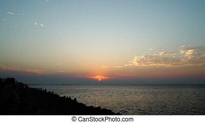 Sonnenuntergang, FEHLER, Zeit, wolkenhimmel