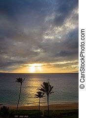 sonnenuntergang, kaanapali strand