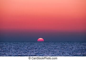 sonnenuntergang ozean