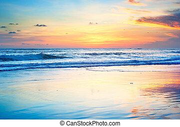 sonnenuntergang- strand, bali