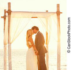 sonnenuntergang, wedding
