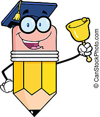sonner, crayon, prof, cloche