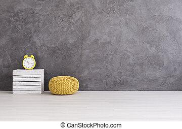 sonnig, farbe, auf, graue , von, beton