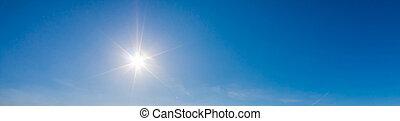 sonnig, himmelsgewölbe, hintergrund