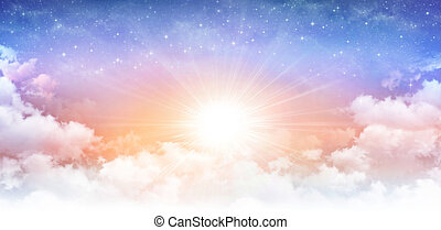 sonnig, himmlisch, himmelsgewölbe