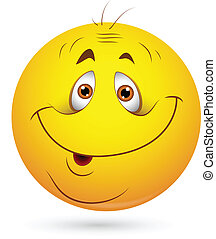 sonny, vetorial, smiley enfrentam