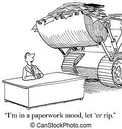 sono, in, uno, lavoro ufficio, umore, permettere, er,...