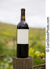 sonoma, vigneto, bottiglia, vuoto, valle, vino