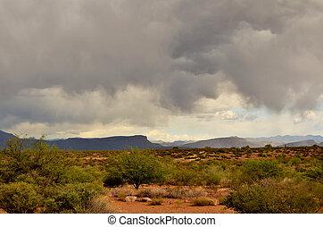Sonora Desert Arizona - Mountain in the Sonora desert in ...