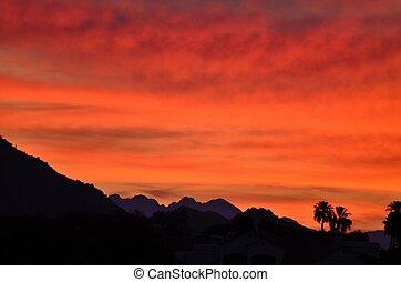 Sonora Desert Sunrise #2 - Sunrise in the Sonora Desert, ...