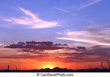 Sonora Desert Sunset - Arizona Sky