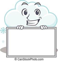 sonriente, diseño, nevoso, nube, tabla, tiene, estilo, ...
