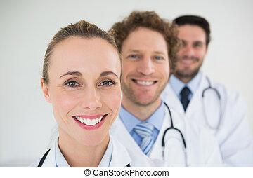 sonriente, doctors, consecutivo