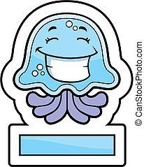 sonriente, medusa