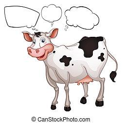 sonriente, vaca