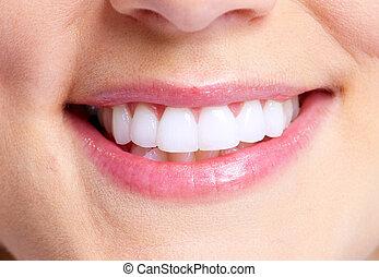 sonrisa, y, teeth.