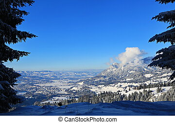 Sonthofen is known for its beautiful landscape and winter landscapes