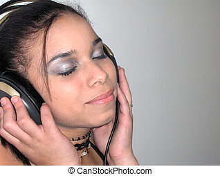 Soothing Music - Teen listening to music