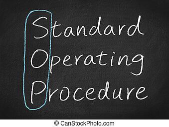 sop, procédure, opération, norme