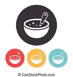 sopa, ícone