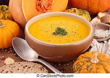 sopa, calabaza