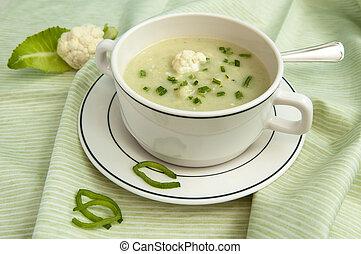 sopa, coliflor