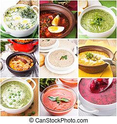 sopa, collage