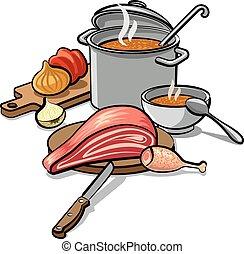 sopa, cozinhar