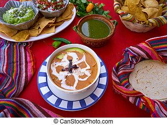 sopa, receita, aztec, méxico